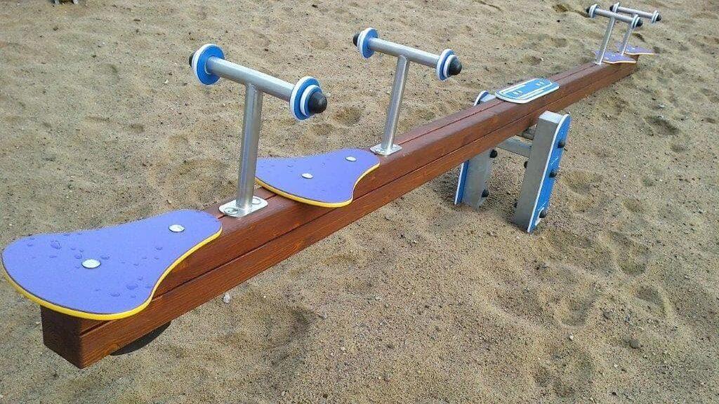 balancines parques infantiles madera