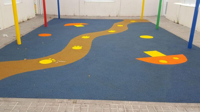precio suelos de caucho parque infantil