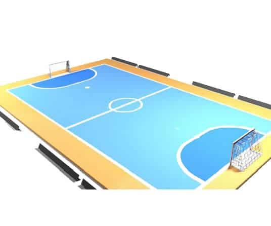 construccion campo futbol interior indoor