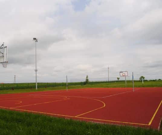 cancha pista baloncesto construccion