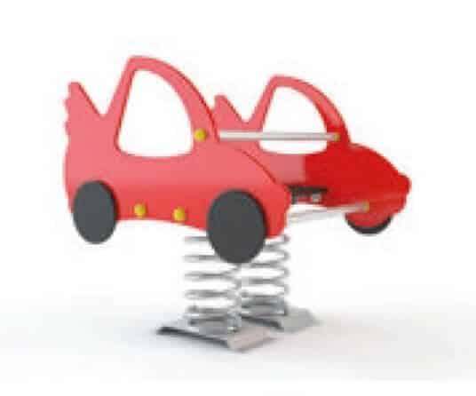 muelle coche de carreras