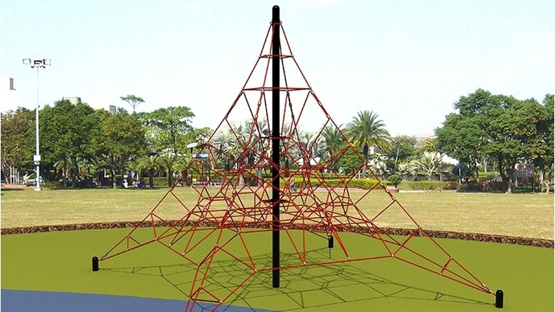 piramide de cuerdas para parques infantiles