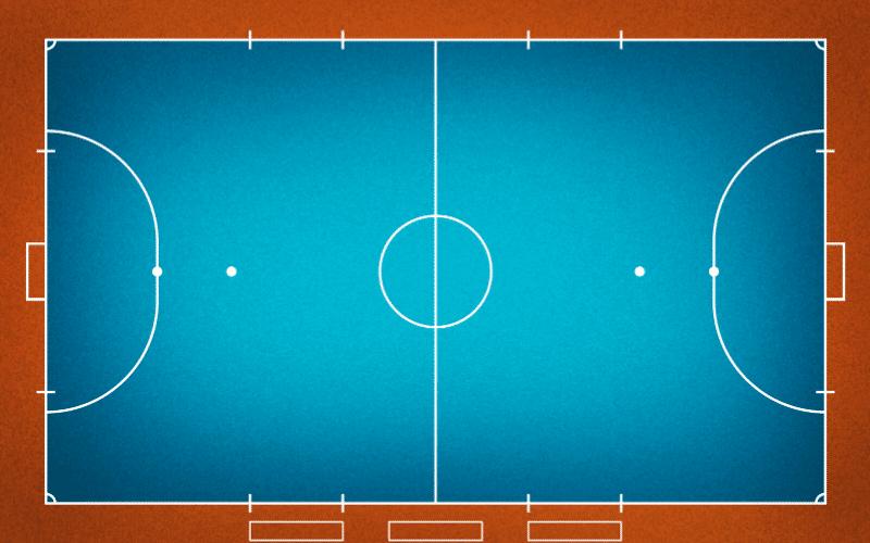 cuanto mide una pista de futbol sala