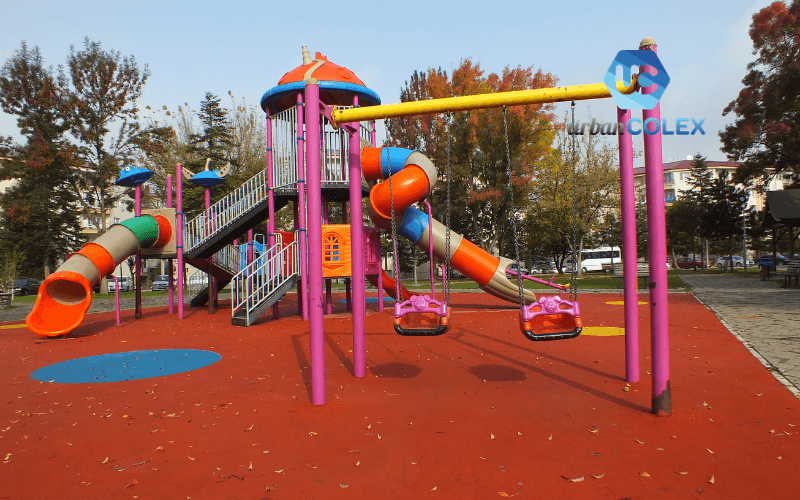 suelos de caucho parque infantil