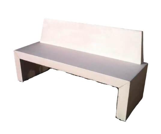 mobiliario urbano banco con respaldo