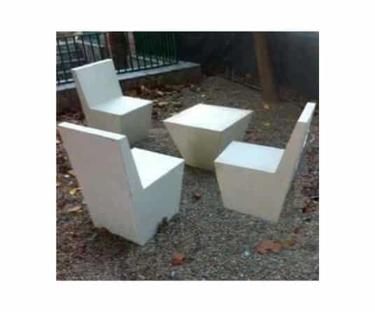mobiliario urbano mesas y sillas buxo