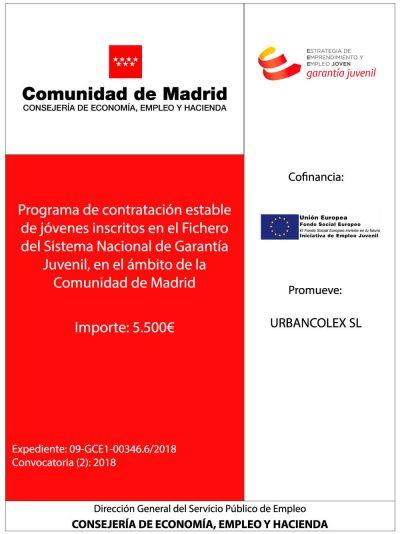 cartel subvencion jovenes comunidad de madrid